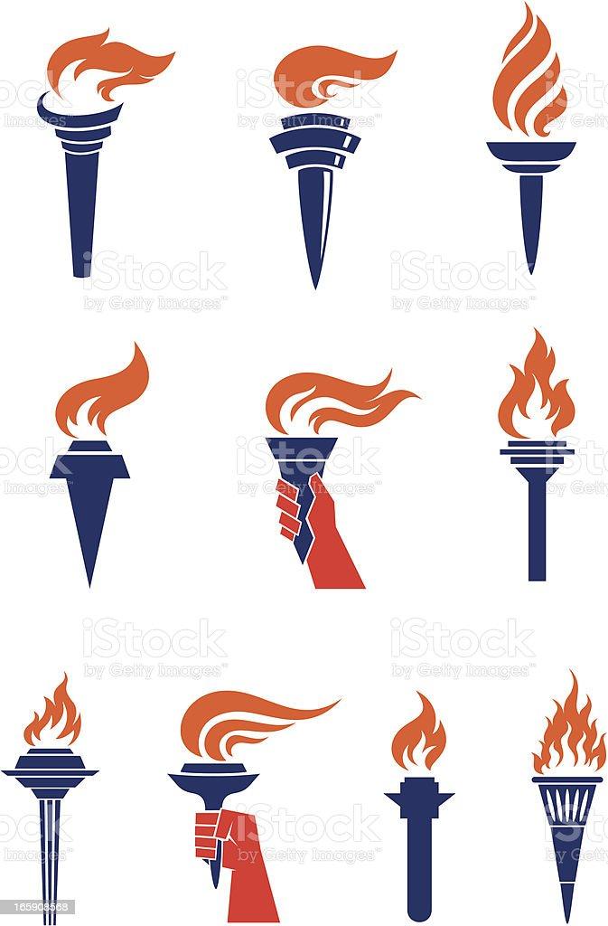 Torches vector art illustration
