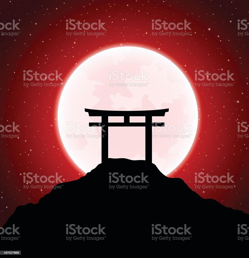 Torii gates vector art illustration