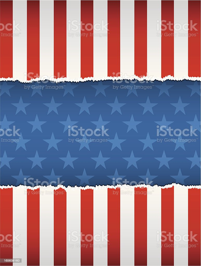 Torn american background royalty-free stock vector art