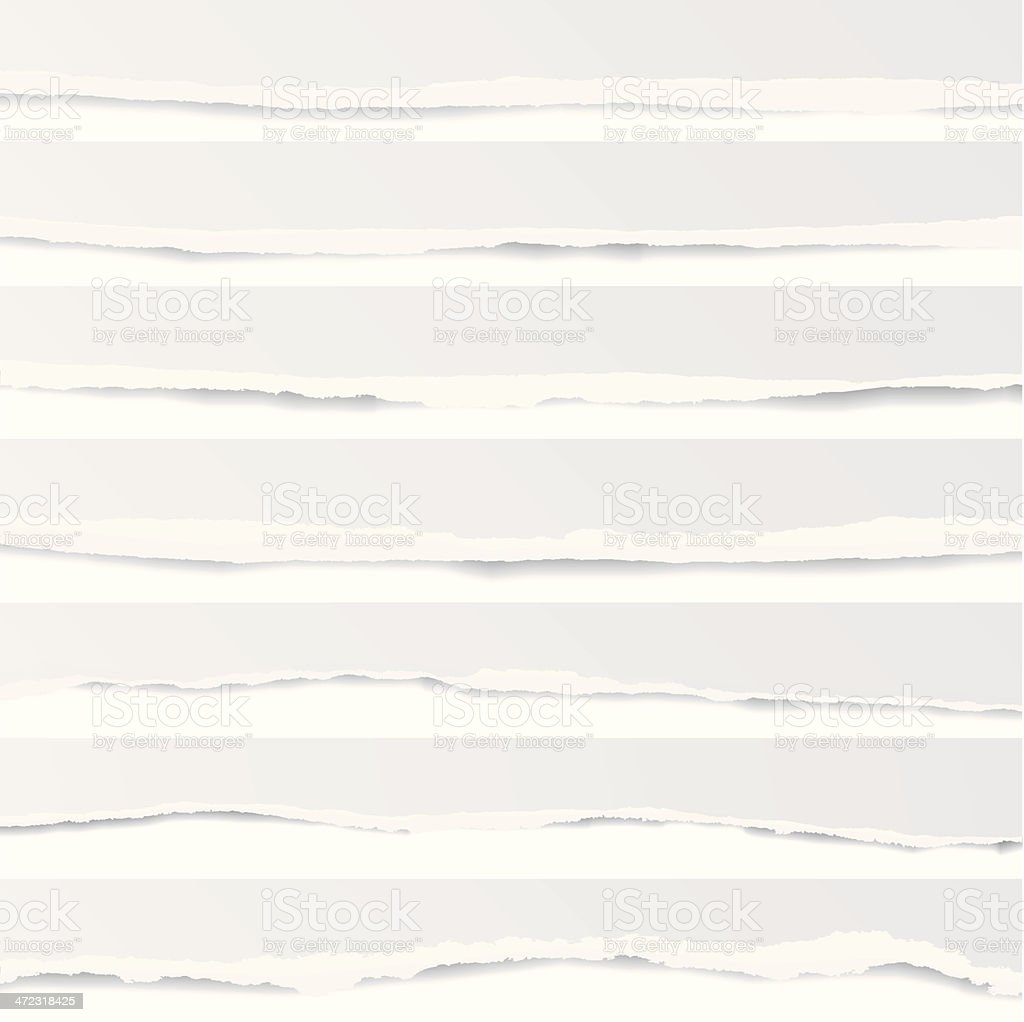 Torn Paper Background Collection vector art illustration