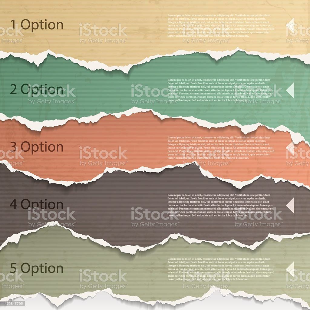 Torn paper background images for a presentation vector art illustration