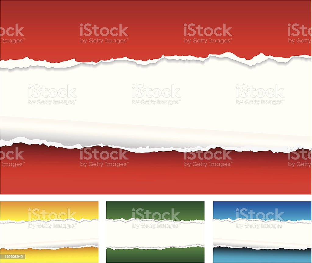 Torn Paper Background royalty-free stock vector art