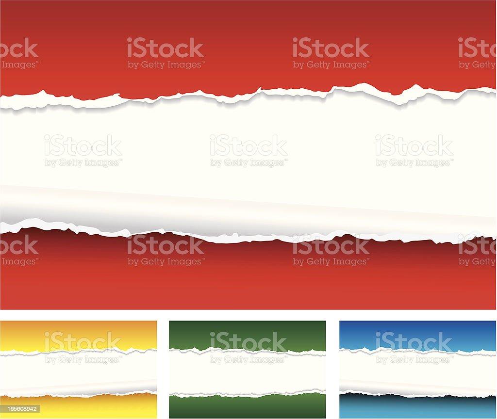 Torn Paper Background vector art illustration