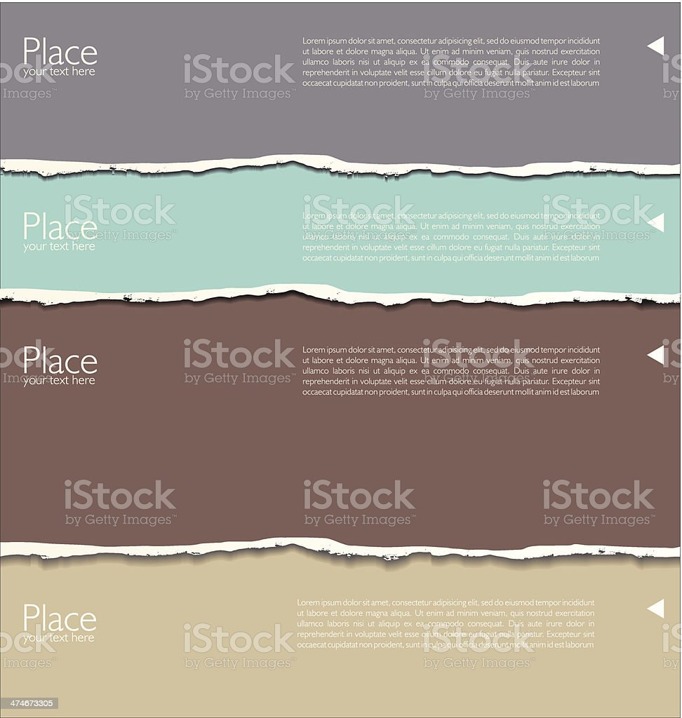 Torn paper background with space for text vector art illustration