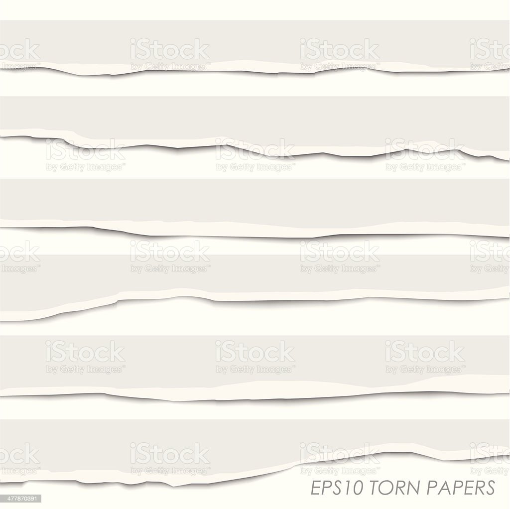 Torn Paper Banners Collection vector art illustration