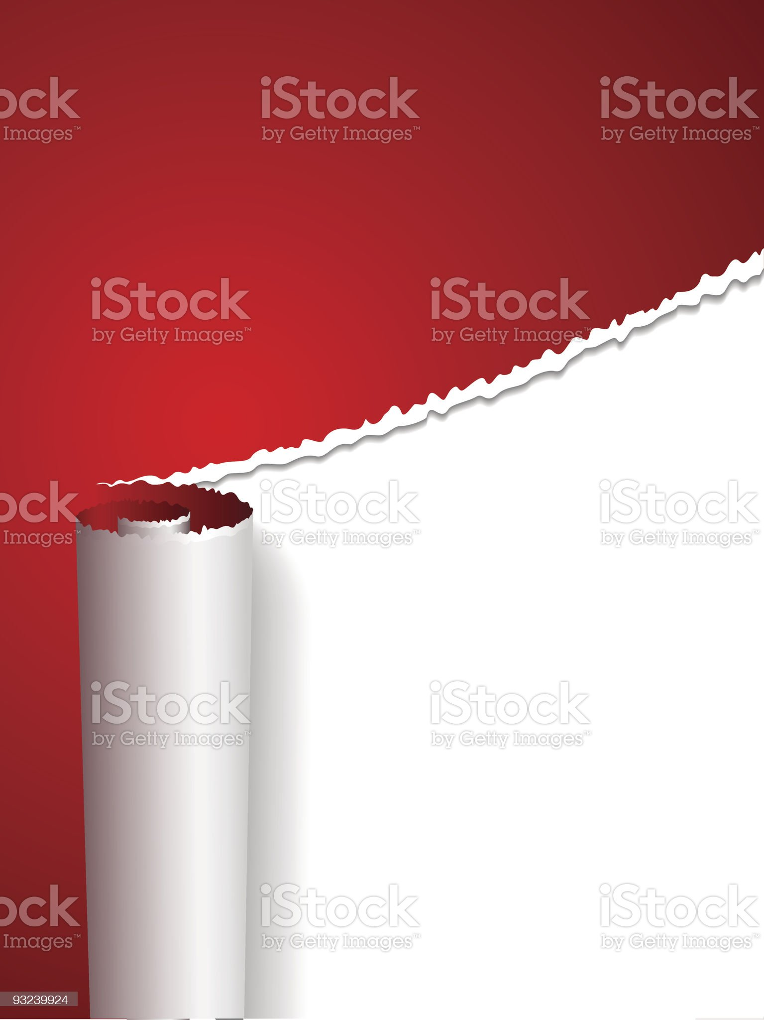 Torn paper cover royalty-free stock vector art