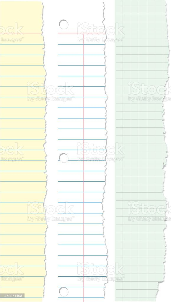 Torn Paper Edges royalty-free stock vector art