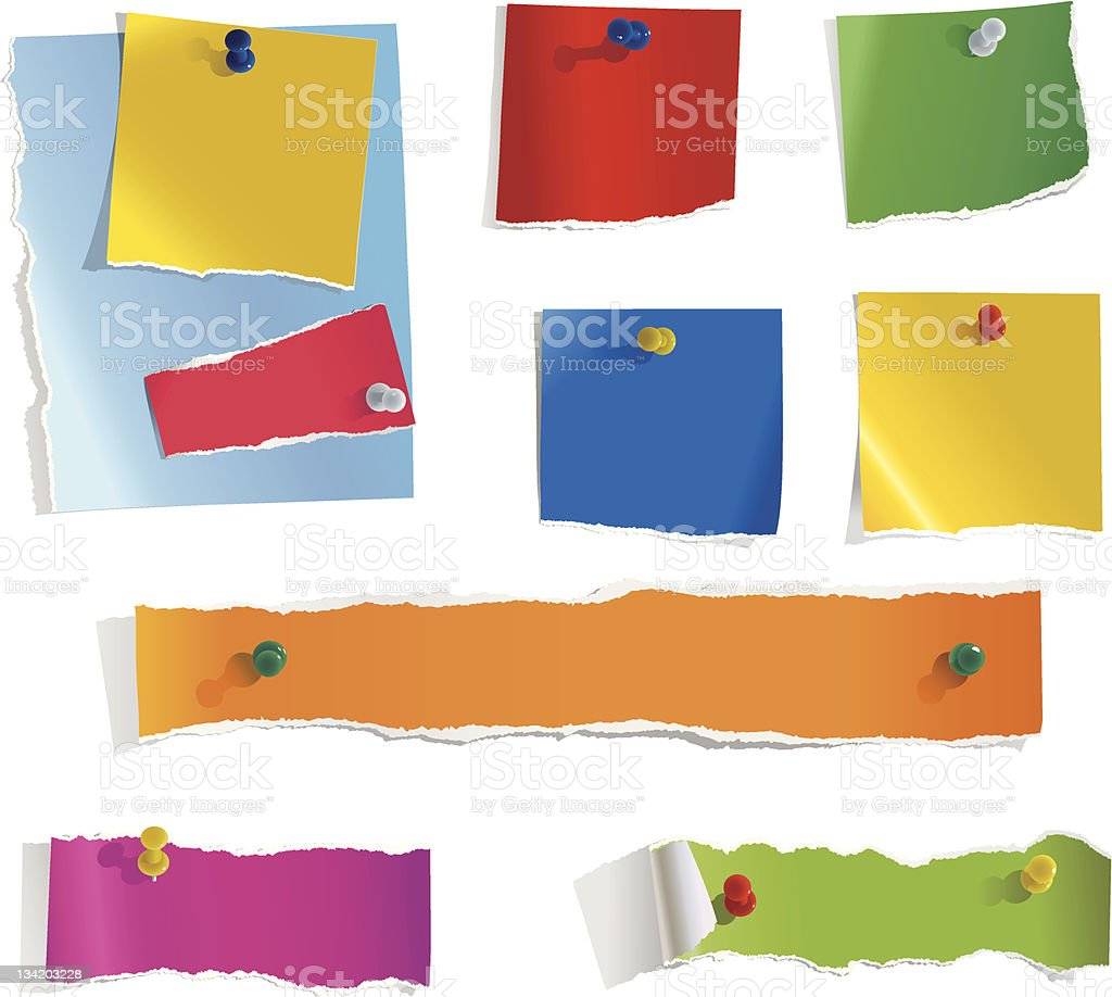 Torn Paper Notes (1) royalty-free stock vector art
