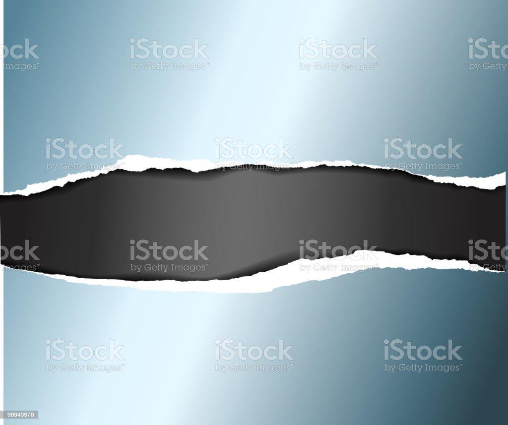 Torn paper on a black background vector art illustration