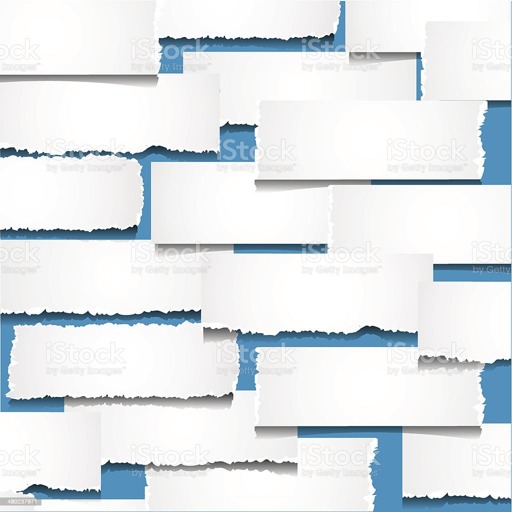 Background with pieces of torn paper vector art illustration