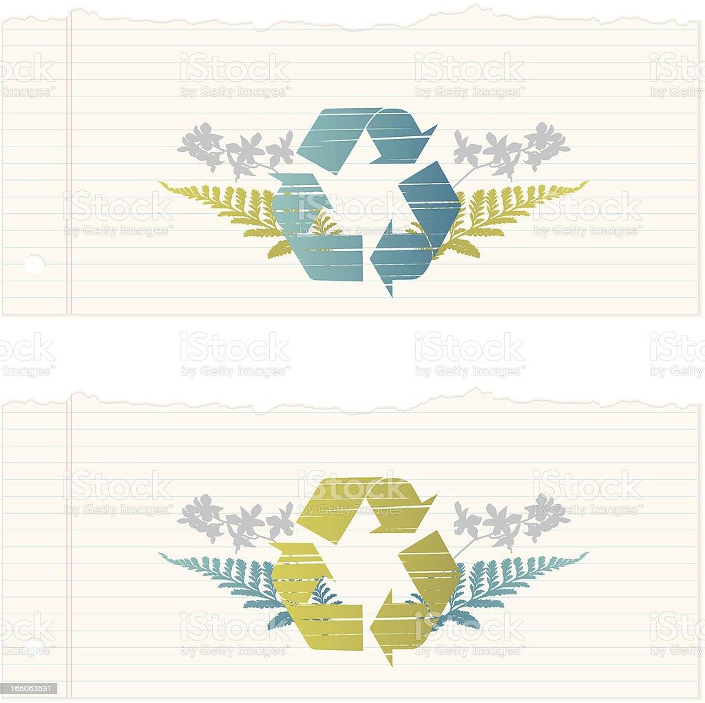 Torn paper recycle motif royalty-free stock vector art