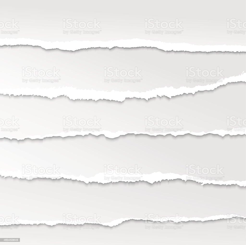 torn paper set vector art illustration