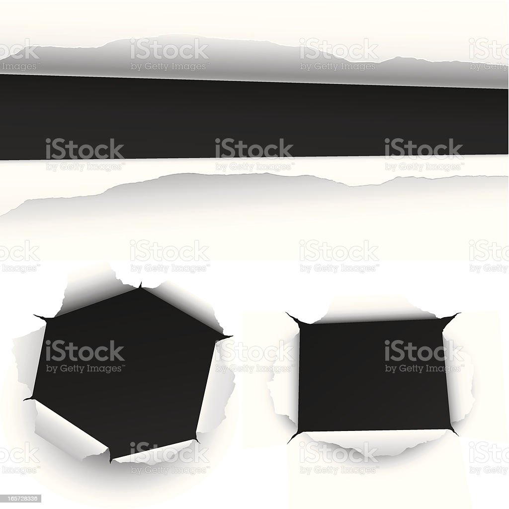 Torn paper royalty-free stock vector art