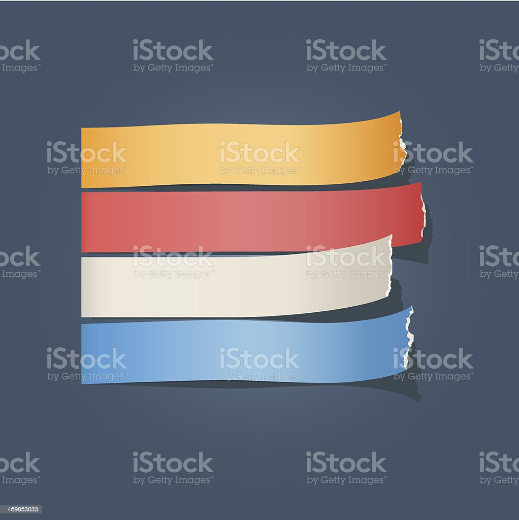 Torn paper royalty-free stock vector art