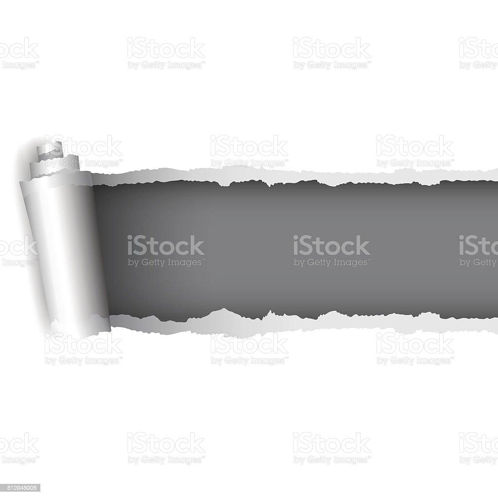 Torn paper vector art illustration