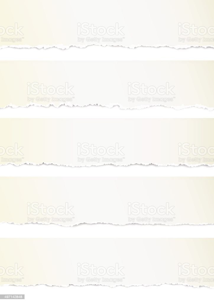 torn papers vector art illustration