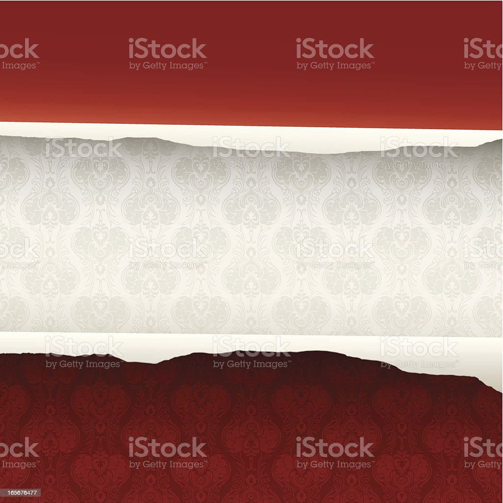 Torn wallpaper background royalty-free stock vector art