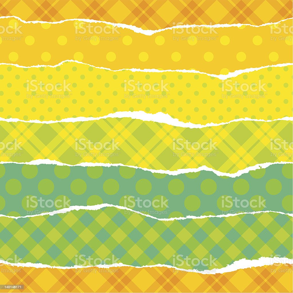 Torn wrapping paper. royalty-free stock vector art