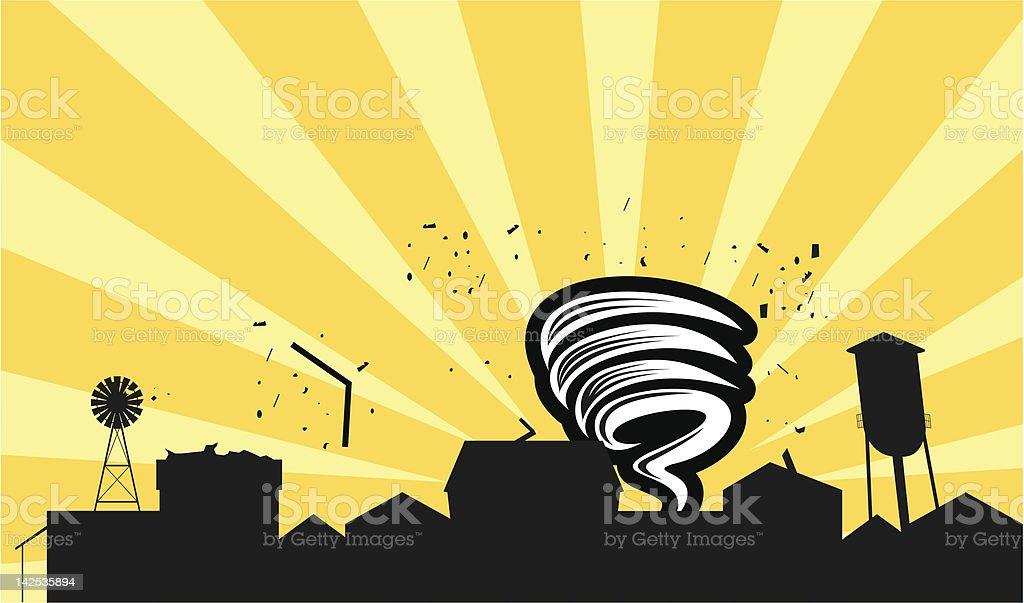 Tornado Destruction royalty-free stock vector art