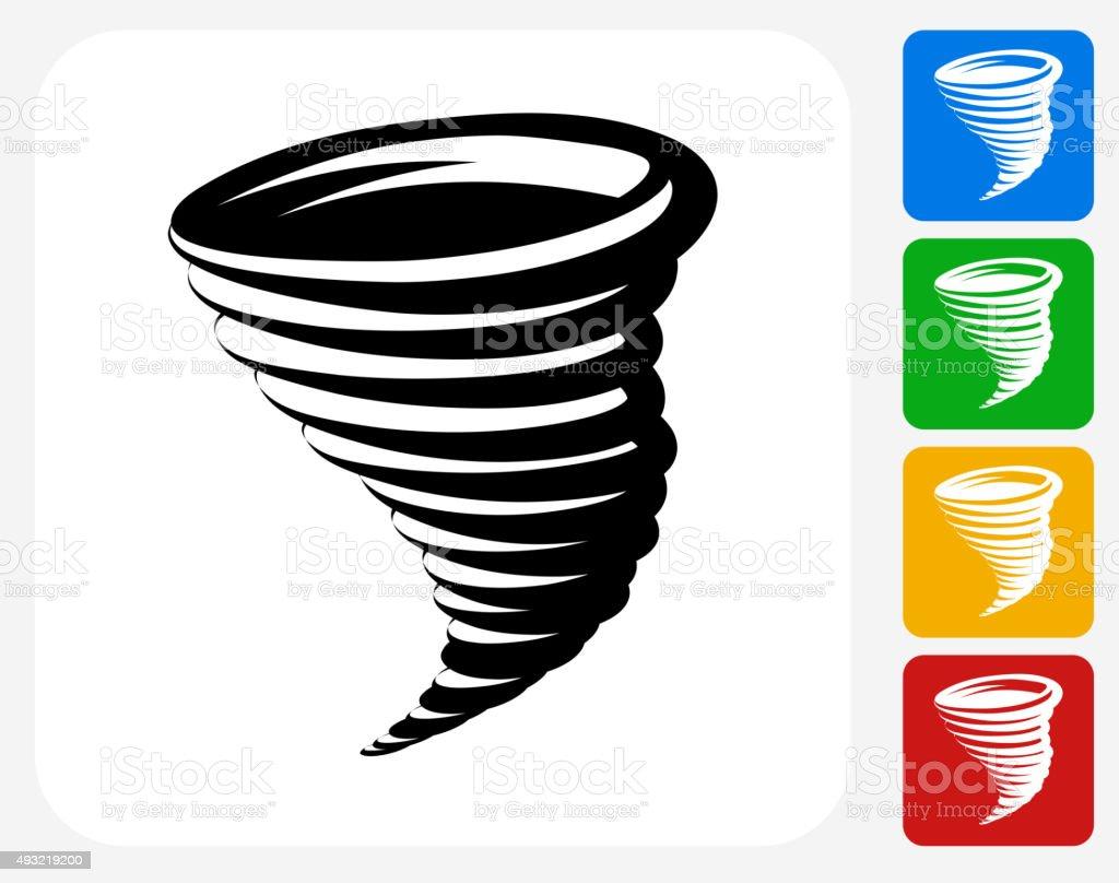 Tornado Icon Flat Graphic Design vector art illustration