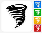 Tornado Icon Flat Graphic Design