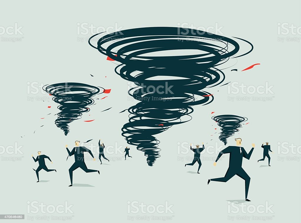A tornado of ideas, ready to win the world  vector art illustration