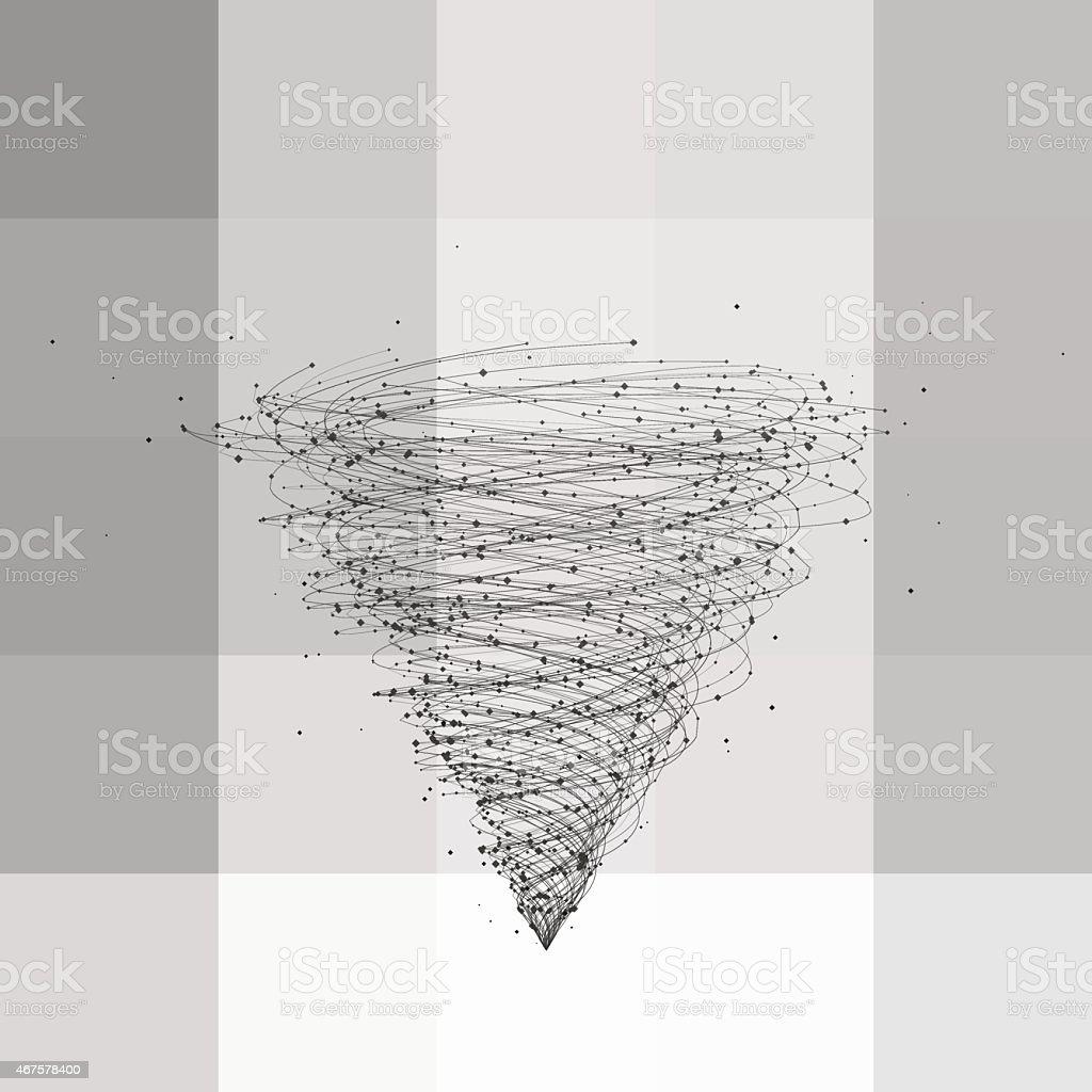 Tornado, vector illustration vector art illustration