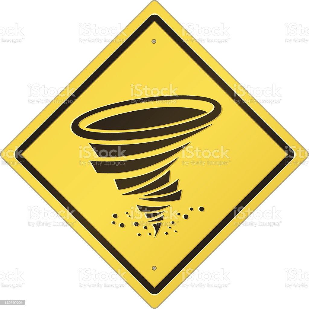 Tornado Warning Sign vector art illustration