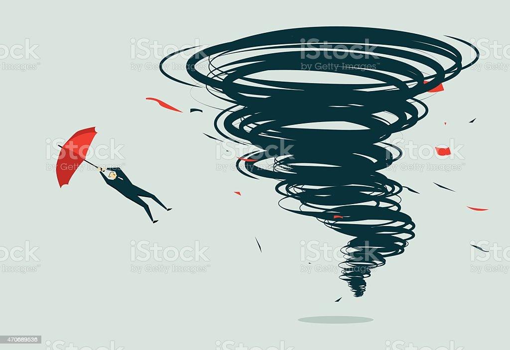 Tornado-Illustration vector art illustration