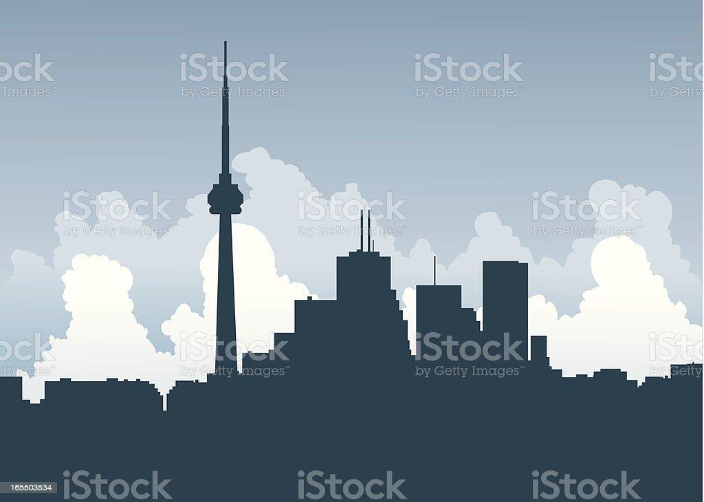 Toronto Central vector art illustration
