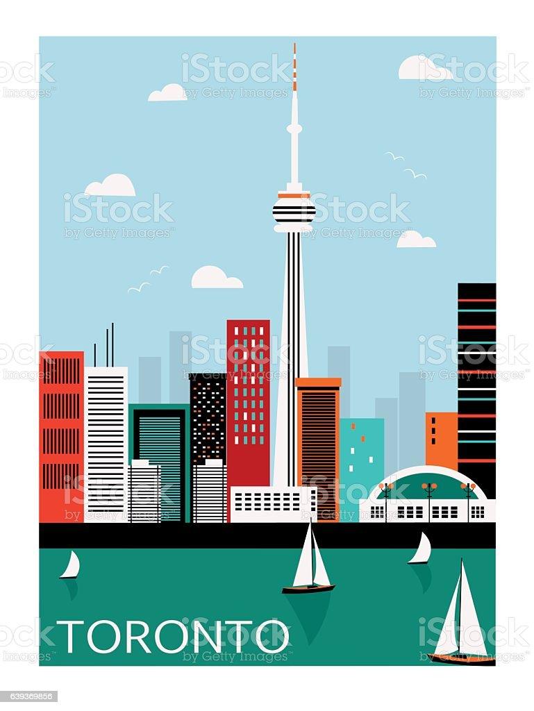 Toronto city. Canada. vector art illustration