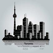 Toronto city silhouette.