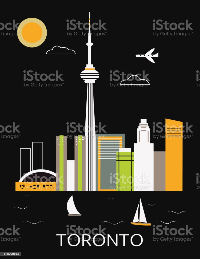 Toronto city. vector art illustration