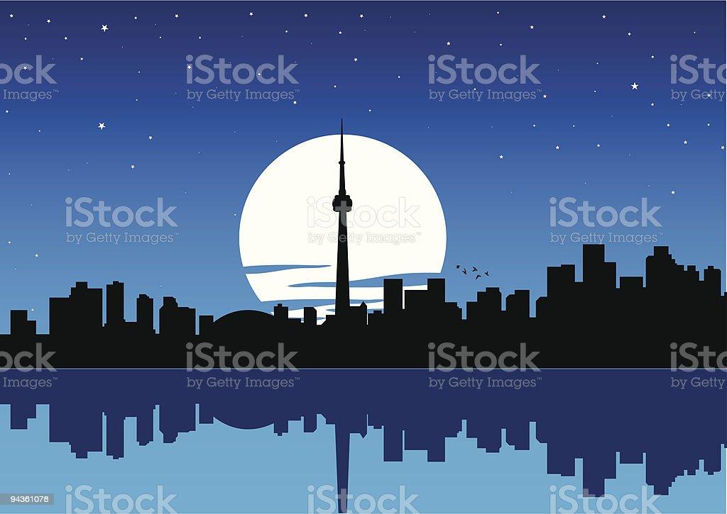 toronto cityscape vector art illustration