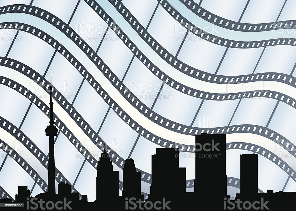 Toronto on Film vector art illustration