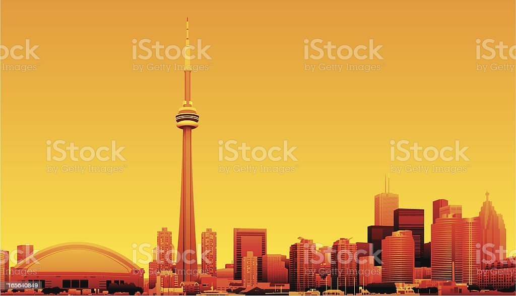 Toronto, Ontario, Canada royalty-free stock vector art