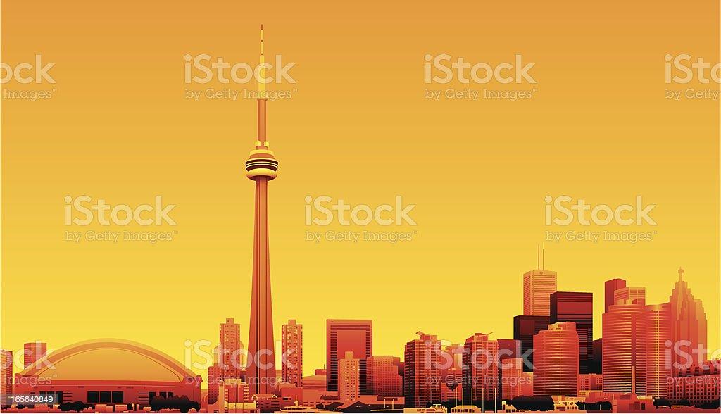 Toronto, Ontario, Canada vector art illustration