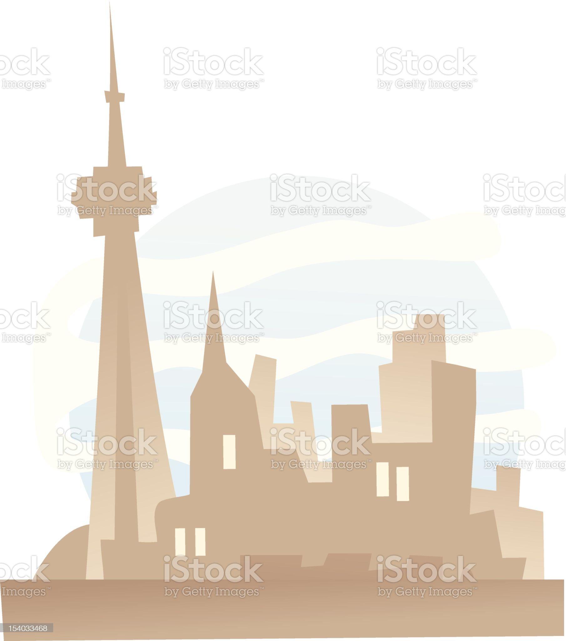 Toronto, Ontario royalty-free stock vector art
