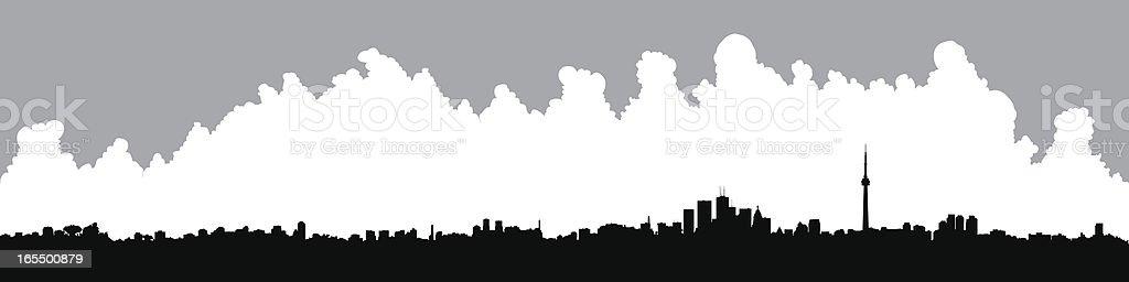 Toronto Panorama vector art illustration