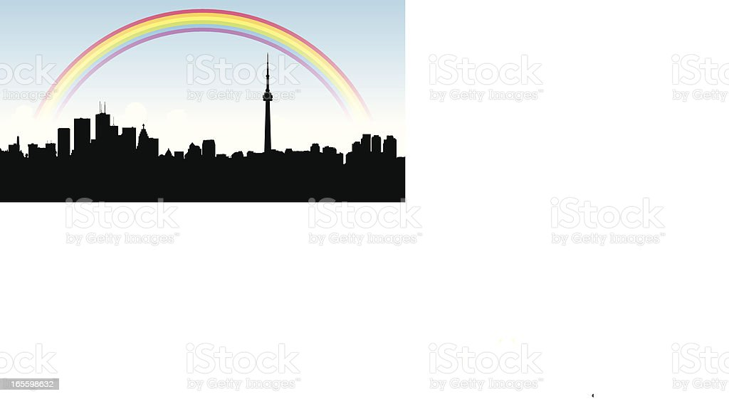 Toronto Rainbow vector art illustration