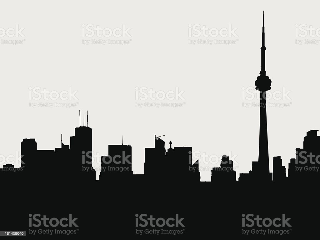 Toronto Silhouette vector art illustration