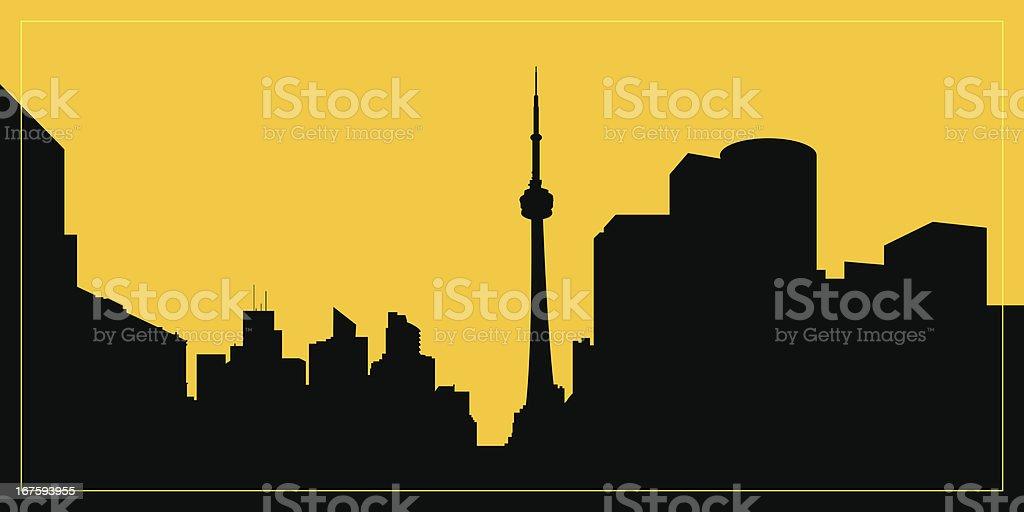 Toronto Skyline Silhouette vector art illustration
