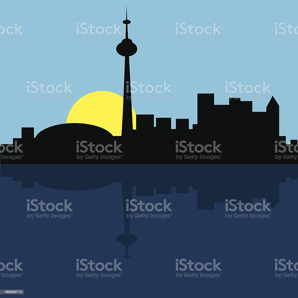 Toronto skyscape vector art illustration