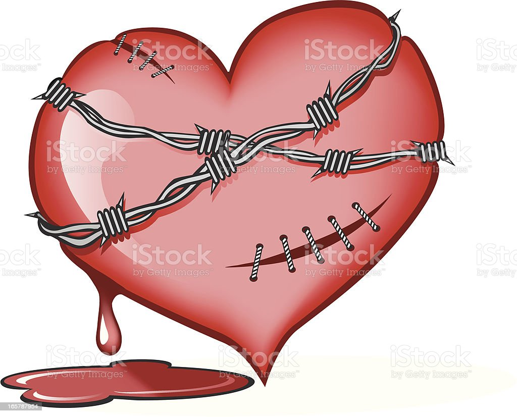 Tortured Heart royalty-free stock vector art