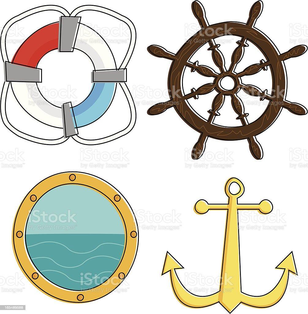 Totally Nautical! vector art illustration
