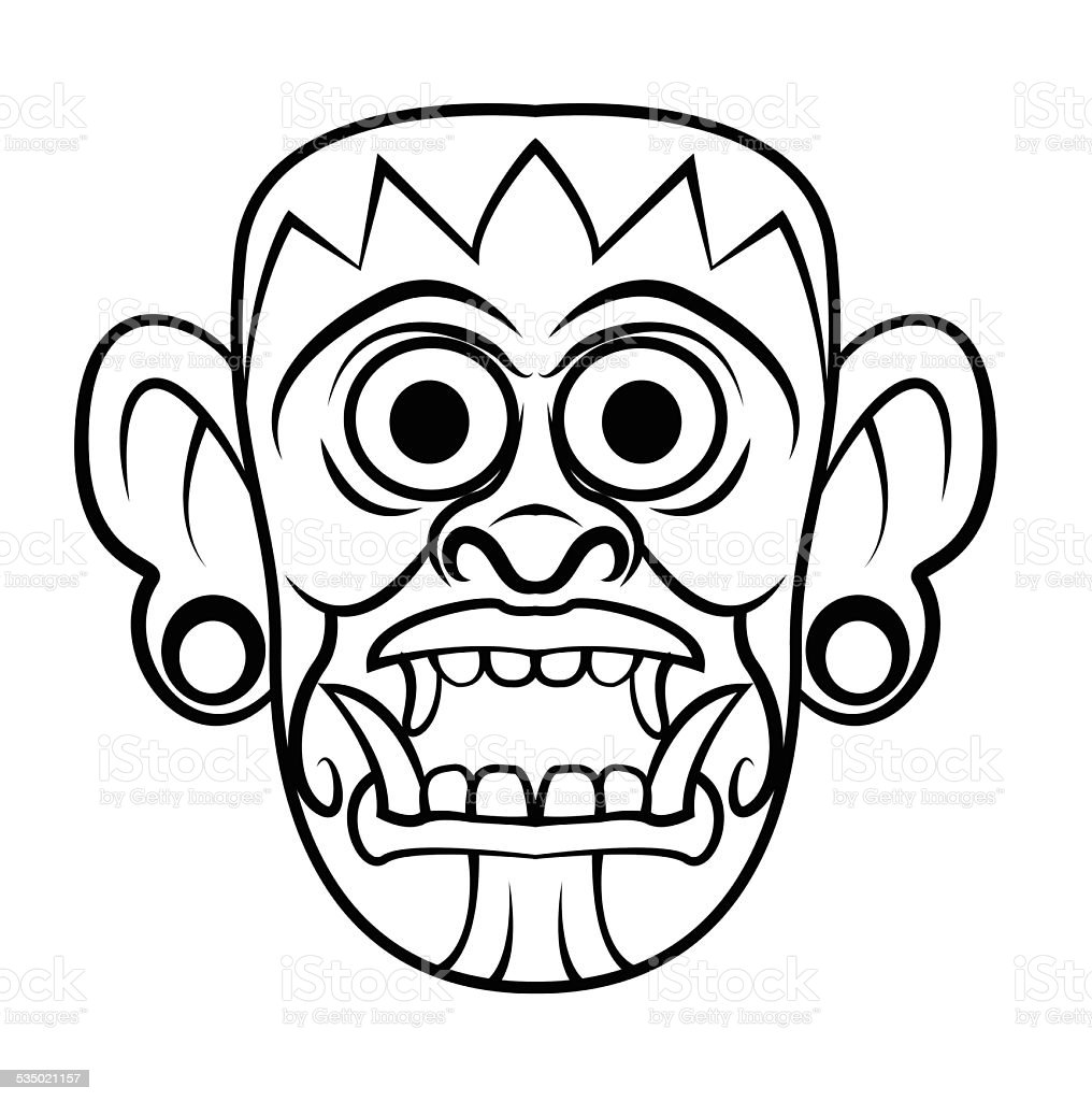 totem mask stock vector art 535021157 istock
