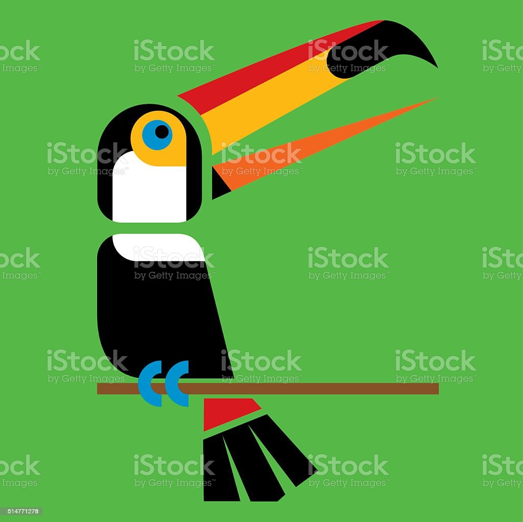 Toucan 1 vector art illustration