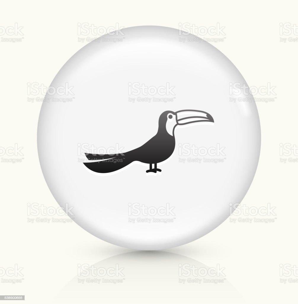 Toucan Bird icon on white round vector button vector art illustration