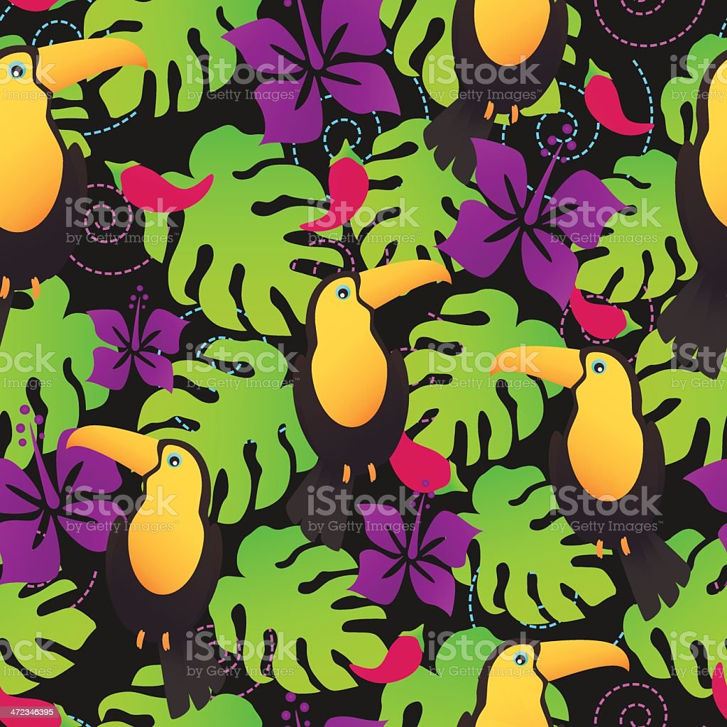 Toucan tropical pattern royalty-free stock vector art