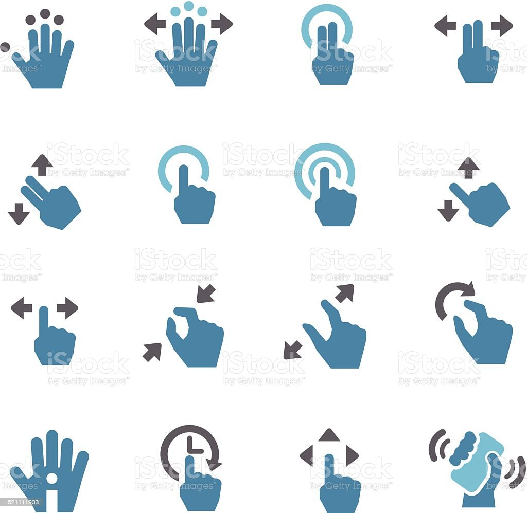 Touch Gesture Icons - Conc Series vector art illustration